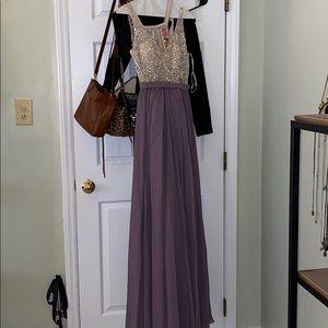 Saved by the dress rhinestone dress